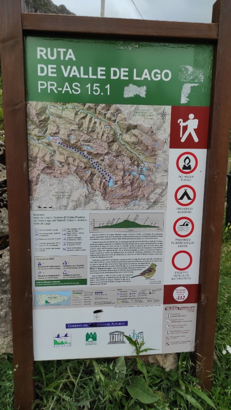 descripcion de ruta Valle del Lago